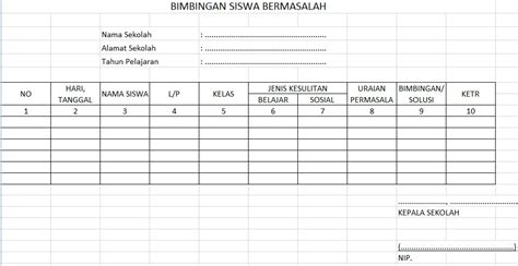 format buku alumni download download format buku bimbingan siswa bermasalah