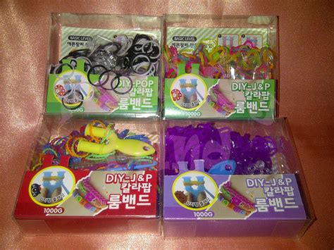Karet Refill Rainbow Loom Bands Jenis Dye jual refill loom band bands diy karet rubber rainbow warna