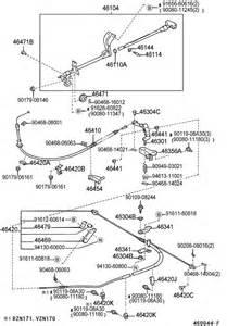 Toyota Tacoma Brake System Diagram Parking Brake Cable Fits 1997 Toyota Tacoma