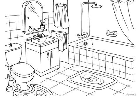 malvorlagen badezimmer kostenlos zum