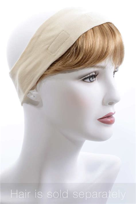 hats with attached bangs headband with bangs attached hair extension 14 034 lt