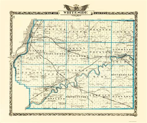 Whiteside County Search County Maps Whiteside County Illinois Il By Warner And Beers 1870
