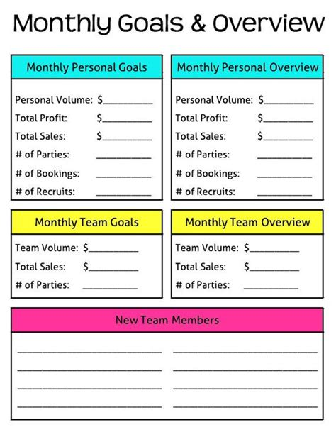 monthly goals and overview erin condren planner direct