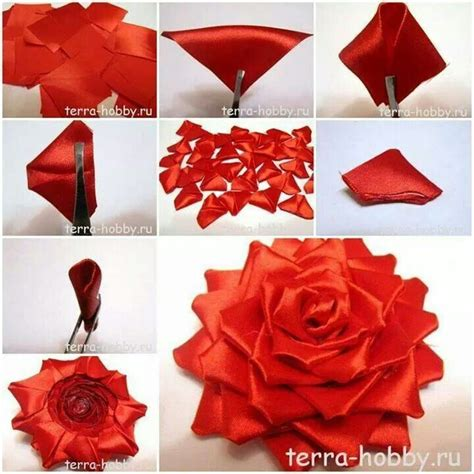 How To Make Paper Ribbon Flowers - 486 best images about flores on kanzashi