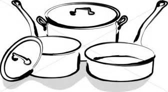 Pan Outline For L by Pots And Pans Clipart 27
