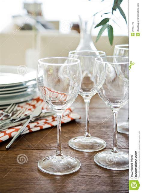 Glasses Table Setting Glasses Table Setting Stock Photo Image 39477706