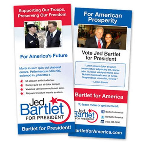 free political palm card template 4x9 palm cards gounionprinting