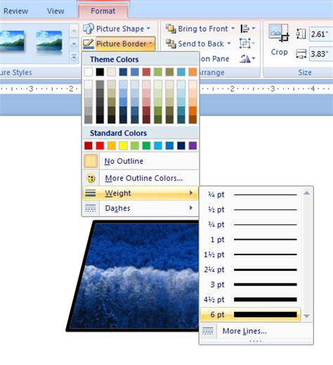 tutorial in powerpoint apply a border to a picture picture 171 wordart picture