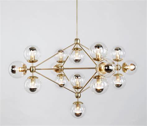 modo illuminazione modo chandelier 15 globes brass clear illuminazione