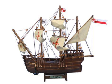 Mini Handmade Wood Model Ship - buy wooden pinta model ship 12 inch model ships