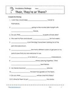 their there or they re worksheets