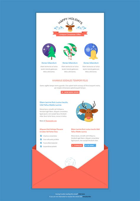 exclusive new year newsletter by themewish themeforest