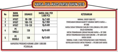 Baju Kaos Partai Politik Pilkada konveksi kaos bandung pabrik kaos bandung by