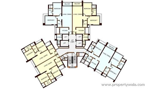 layout key plan peninsula ashok gardens parel mumbai apartment flat