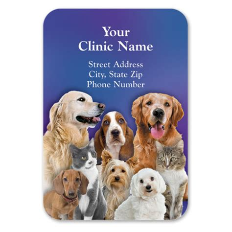 Veterinary Giveaways - full color veterinary magnets family portrait veterinary promotional products