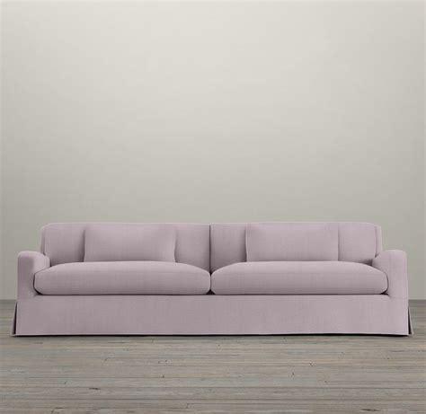 restoration hardware slope arm sofa 7 belgian slope arm slipcovered two cushion sofa