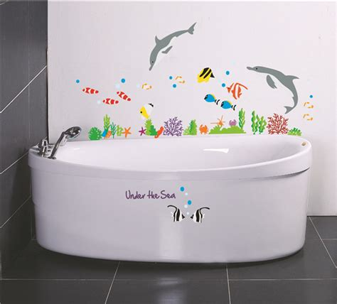 wall stickers for the bathroom wall stickers home decor the sea bathroom decor