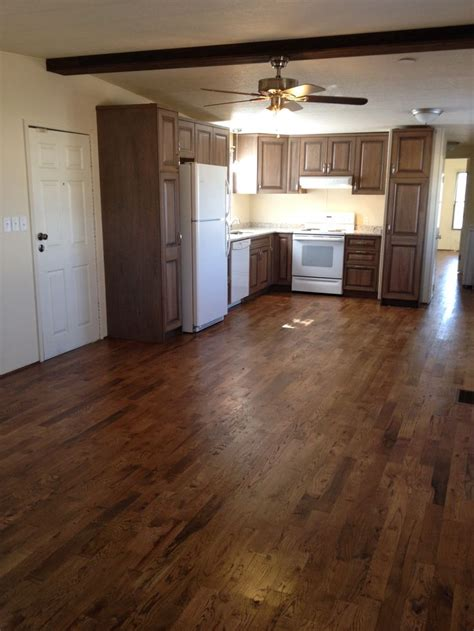 hardwood floors in a mobile home flooring