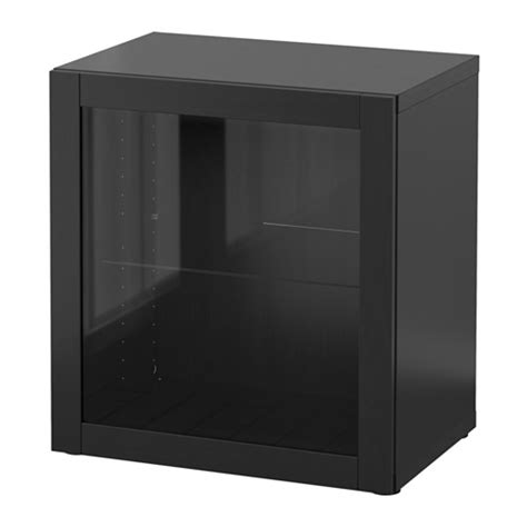 besta 60x40x64 best 197 shelf unit with glass door sindvik black brown 23