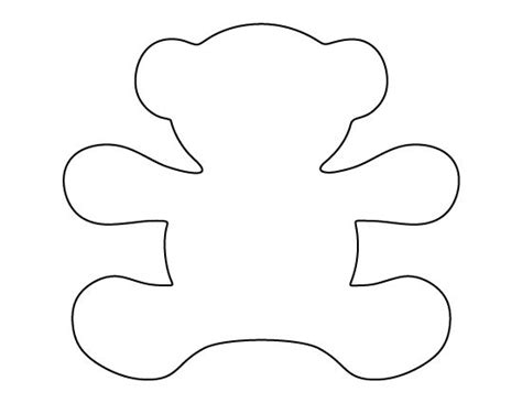 printable teddy template teddy pattern use the printable pattern for crafts