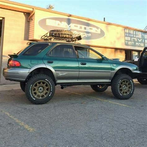 raised subaru impreza lifting them subies oh yeah baby subarus pinterest