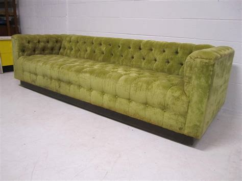 chesterfield style sofa awesome dunbar style chesterfield tufted sofa mid century