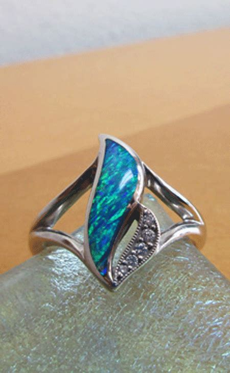 river jewelers australian opal and ring