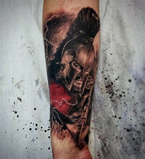 3d like painted and colored firearm tattoo of angry