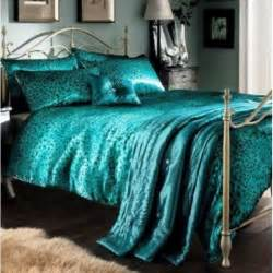 Coverlet For King Bed Leopard Teal King Size Duvet Cover 5 Pcs Luxury Bed Set