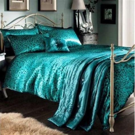 king size bed duvet sets leopard teal king size duvet cover 5 pcs luxury bed set