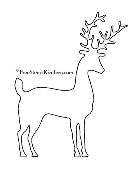 reindeer silhouette template reindeer silhouette stencil 08 free stencil gallery