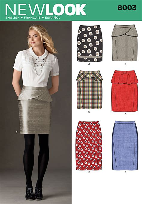 pattern review new look 6940 new look 6003 misses skirts
