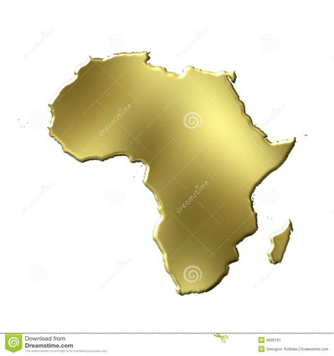 3d africa map vector africa 3d golden map stock image image 4626161