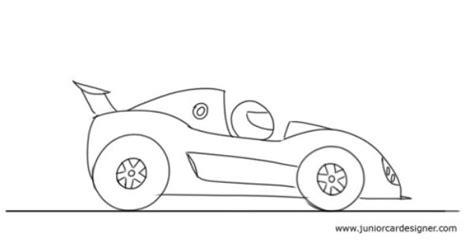 drawing pattern car draw a cartoon race car car drawing for kids pinterest