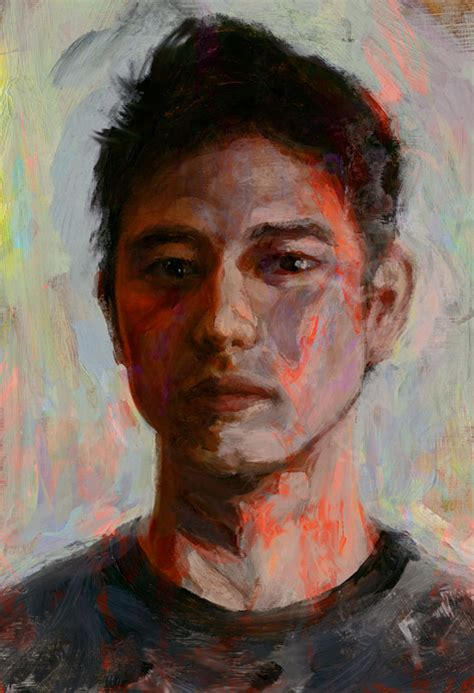 acrylic self portrait doodle by aldok on deviantart