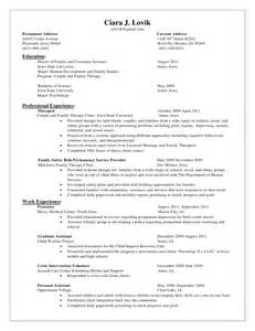Behavioral Therapist Sle Resume by Ciara Lovik S Resume 2011