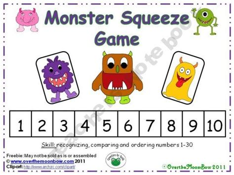 Printable Ordering Numbers Game | 8 best images about printable math games on pinterest