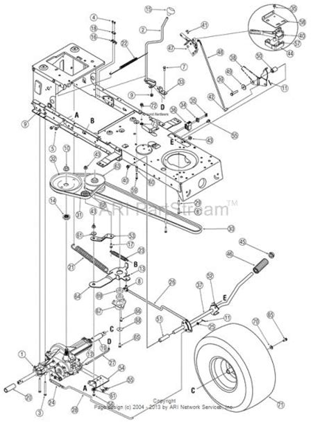 mtd yard machine parts diagram mtd yard machines drive belt jumped pulley how to
