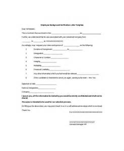 Employment Verification Template by 9 Employment Verification Letter Templates Free Sle