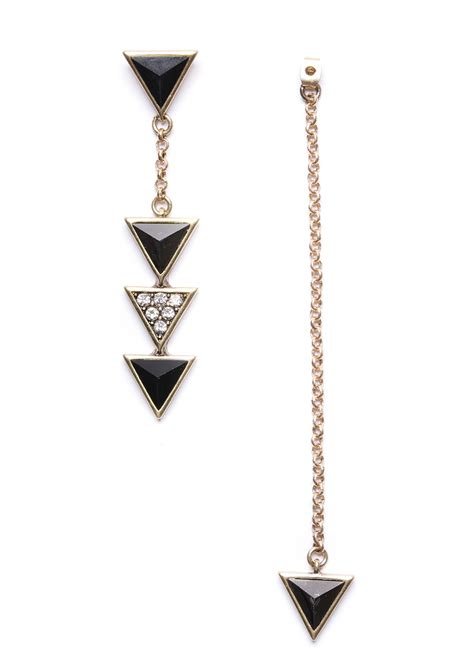 Triangle Statement Earring black triangle drip statement earrings happiness