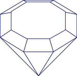 Gem Outline blue gem clip at clker vector clip royalty free domain
