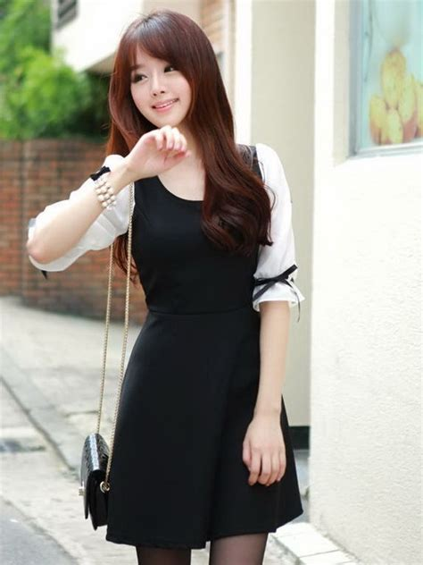 Dress Mini Korean korean fashion bowknot cuff half sleeve mini dress