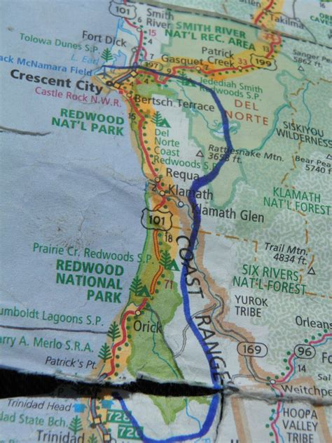 redwood national park california map 1000 images about op de kaart on the map