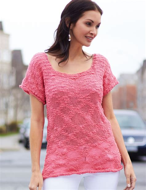 Pattern Knit Top tops tanks tees knitting patterns in the loop knitting