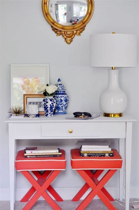 console table with ottomans underneath stylish versatile benches stools ottomans omg
