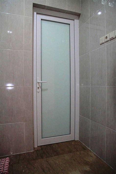 model pintu kamar mandi minimalis aluminium pvc plastik kaca kayu