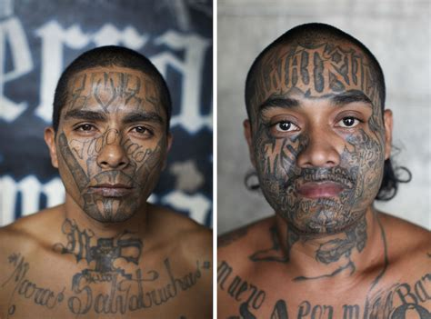 cartel tattoos adam hinton photographs members of the ms 13