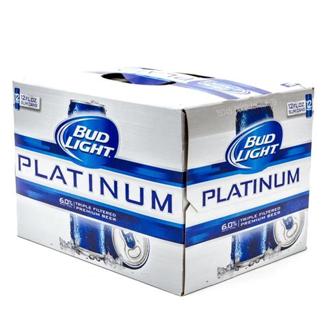 bud light platinum 12oz slim cans 12 pack
