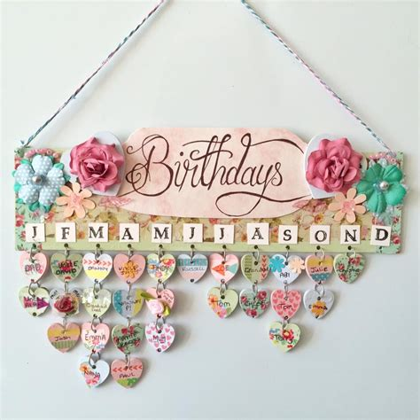 Handmade Wall Hanging For Birthday - birthday calendar wall hanging that s so gemma