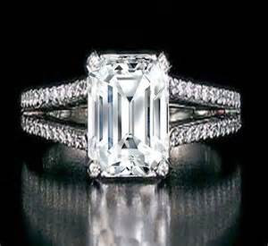 She fashion club emerald cut diamond engagement rings